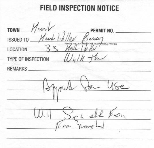 2016-06-03 BUILDING INSPECTION APPROVAL