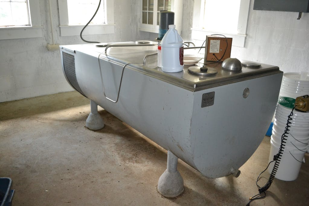 The milk chiller quietly sat in the front of the barn for two plus years waiting to be used.
